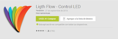 Light Flow control LED apk