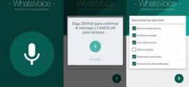 WhatsVoice el asistente de voz para contestar a los Whatsapp